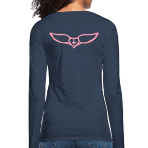 Favor-Women's Premium Long Sleeve T-Shirt - navy