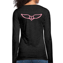 Load image into Gallery viewer, Favor-Women's Premium Long Sleeve T-Shirt - charcoal gray