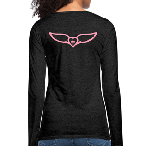Favor-Women's Premium Long Sleeve T-Shirt - charcoal gray