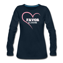 Load image into Gallery viewer, Favor-Women's Premium Long Sleeve T-Shirt - deep navy