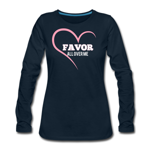 Favor-Women's Premium Long Sleeve T-Shirt - deep navy