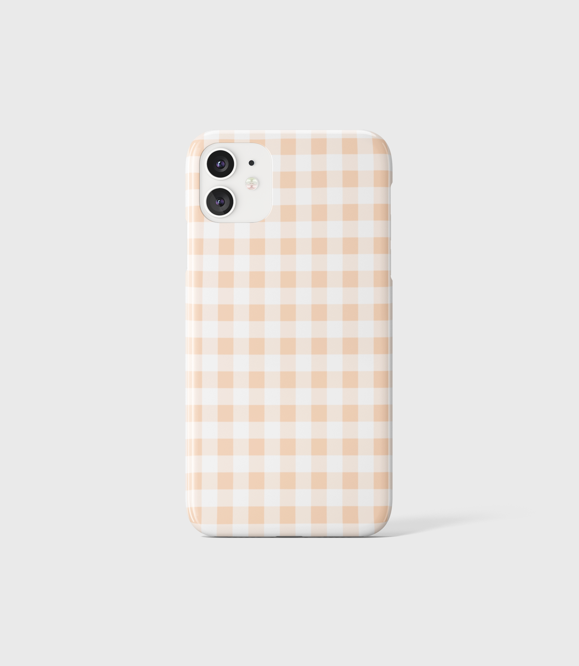 Peach Gingham Phone Case - iPhone