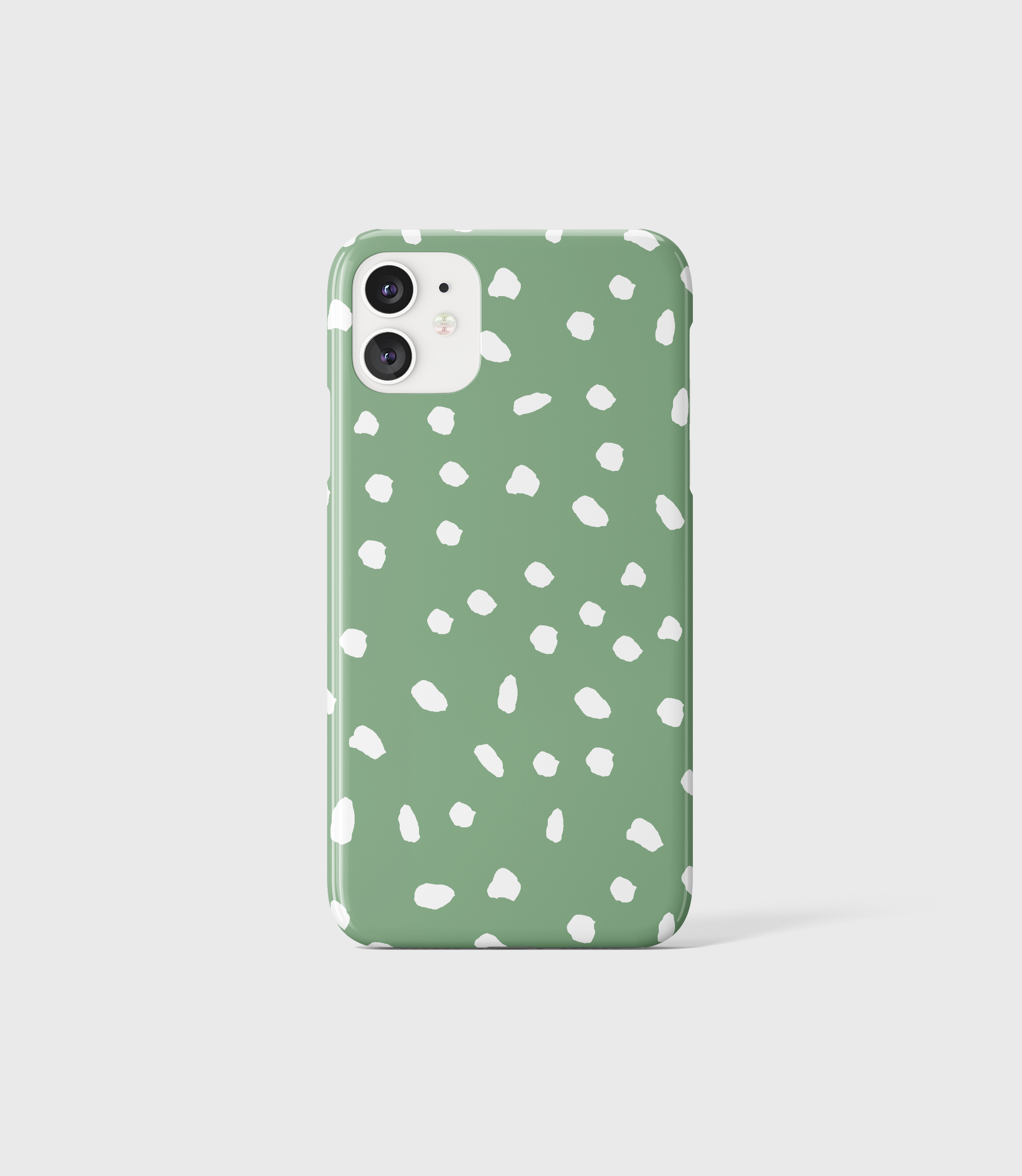 Sea Green Dots Phone Case - iPhone
