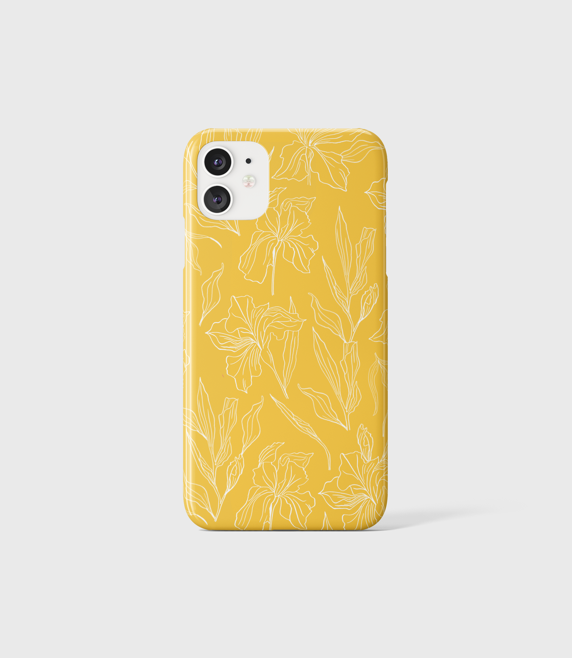 Yellow Floral Iris Phone Case - iPhone