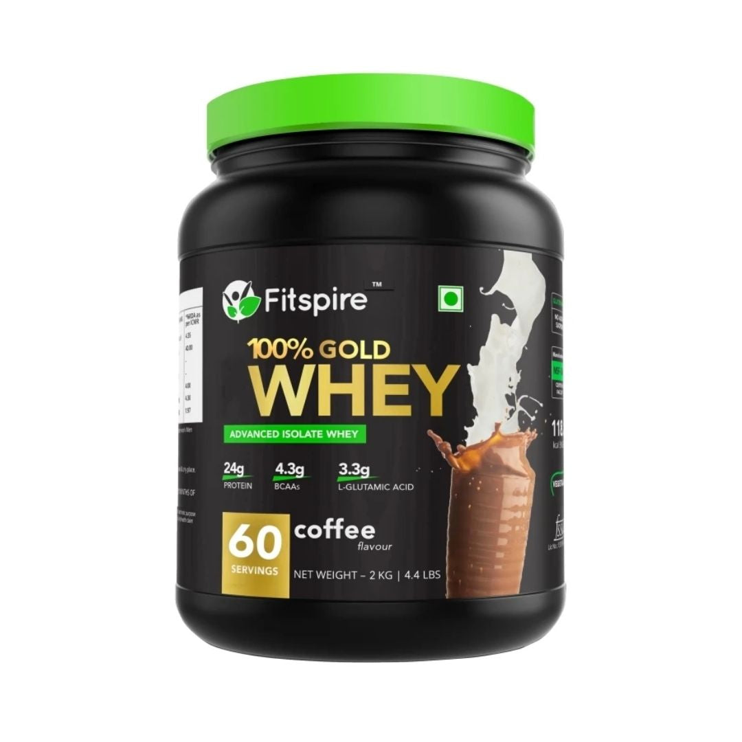 Best Rated Whey Protein Powder for Building Muscle | No Added Sugar, Low Carbs, Zero Cholesterol & Gluten Free | 2 Kg | Coffee