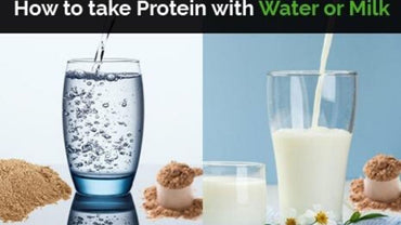 <strong>How to take Protein with Water or Milk</strong>