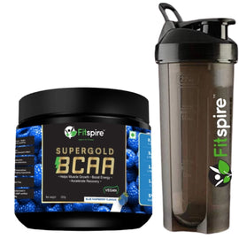 Best Protein Powder For Recovery And Muscle Gain | Fitspire Super Gold Bcaa For Pre & Post Workout & Fitspire Shaker Combo |