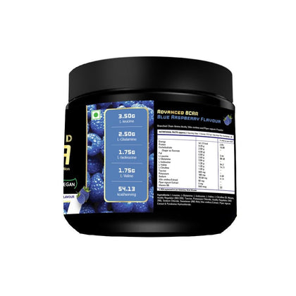 Fitspire Super Gold BCAA Protein Supplement Powder I Pre Workout I Muscle Growth & Recovery I L-Leucine, L-Isoleucine and L-Valine - 250 g