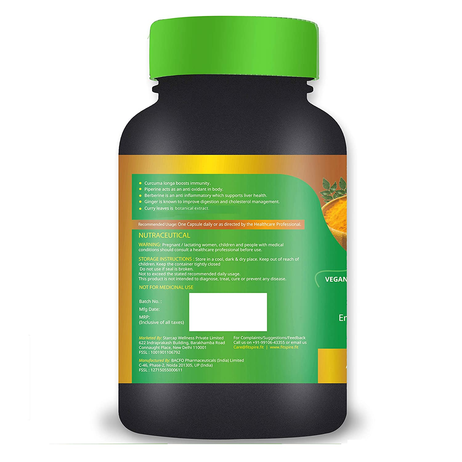 Fitspire Fit Men Multivitamin & Curcumin Combo