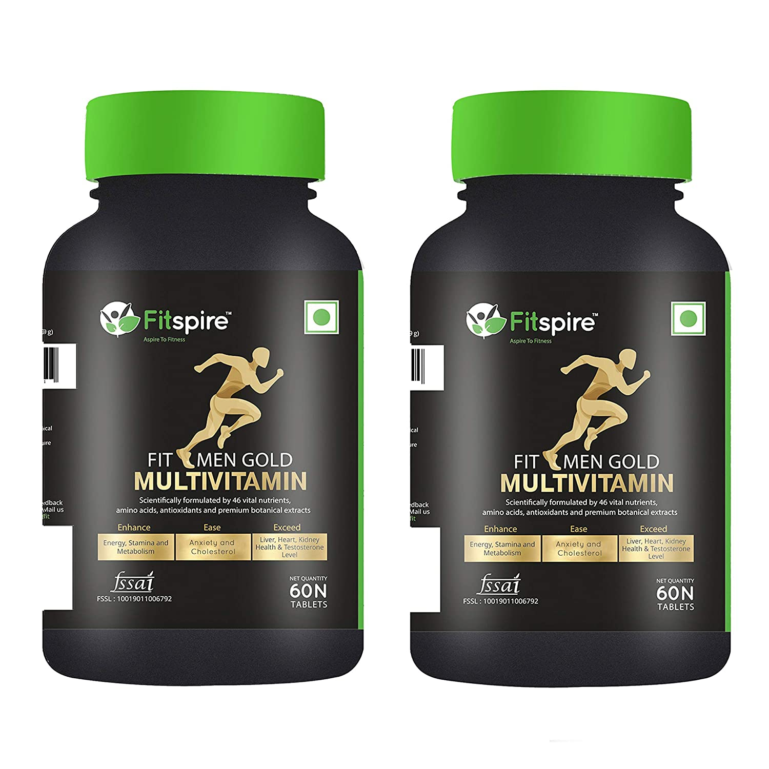 Fitspire Fit Men Gold Multivitamin Combo - 60 Tablets (Combo Of 2)