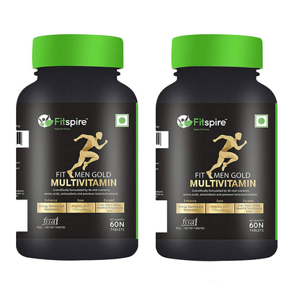 Fitspire Fit Men Gold Multivitamin Tablets 1 + 1