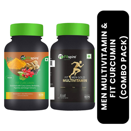 Fitspire Fit Curcumin with Fit Men Multivitamin Combo Pack