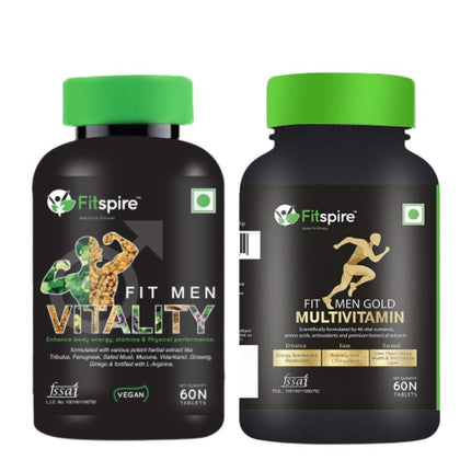 Men Vitality & Men Multivitamin Combo For Health Or Immunity Boost