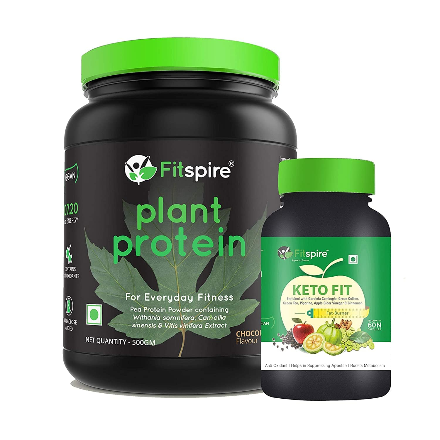 Fitspire Vegan Plant Protein & Keto Fit Fat Burner Combo