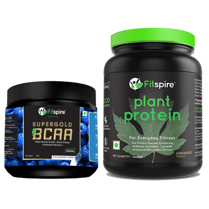 Fitspire Plant Protein with BCAA | Pea Protein Powder | Vegan | No Lactose Added