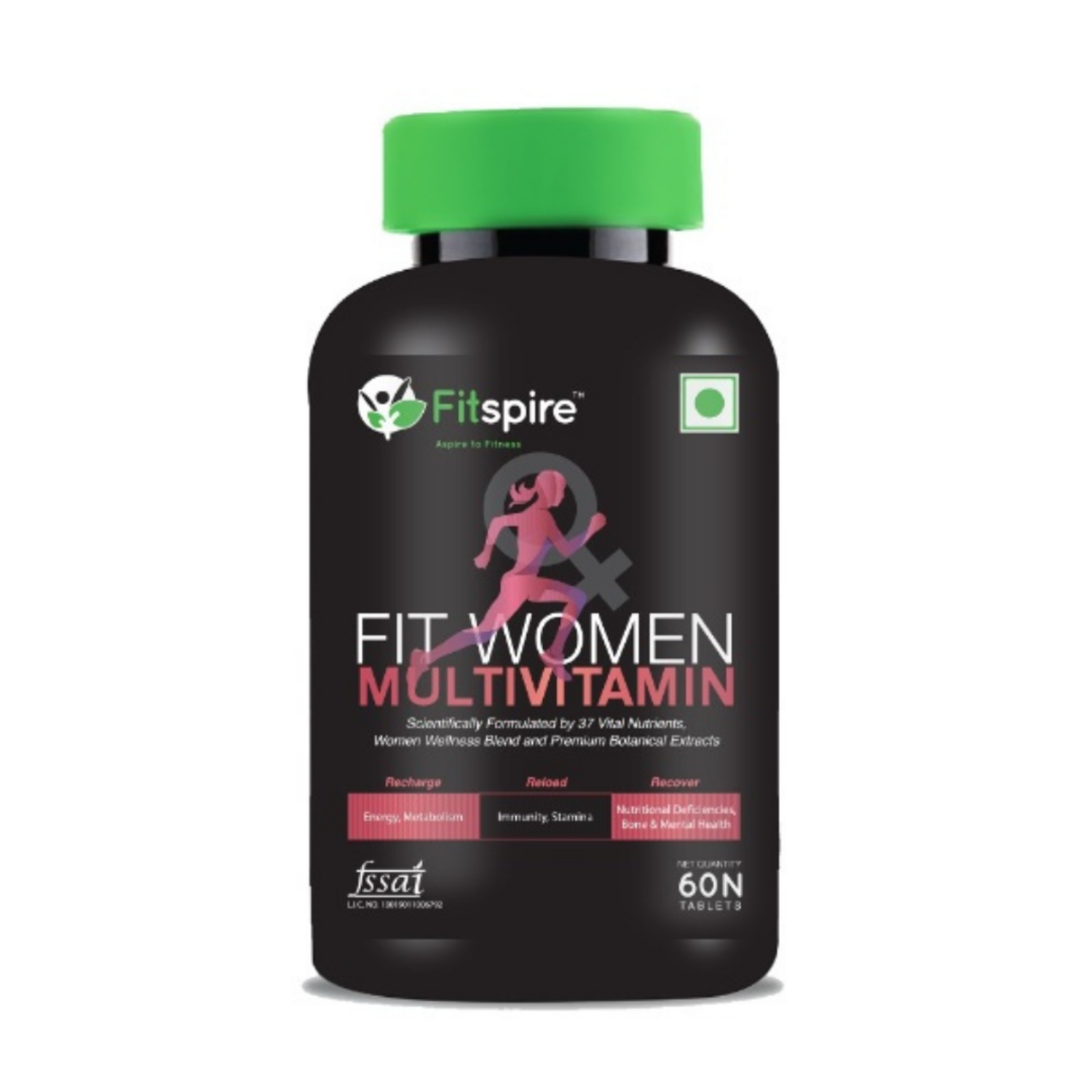 Fitspire Fit Women Multivitamin Tablets | Enriched with 37 Vital Nutrients