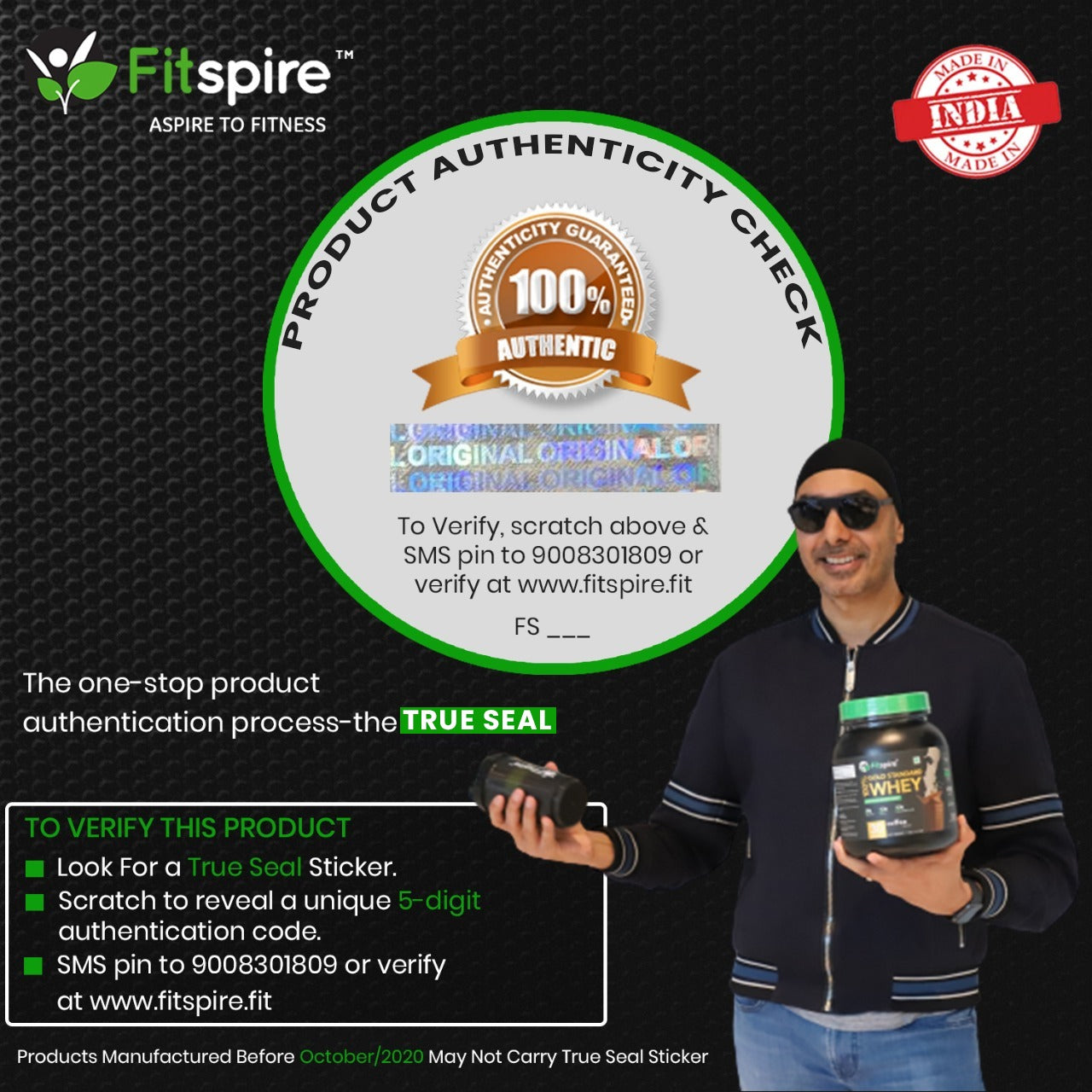 Fitspire Advanced Isolate Gold Whey Protein with Shaker | No Added Sugar, Low Carbs, Zero Cholesterol & Gluten Free | 2 Kg | Coffee