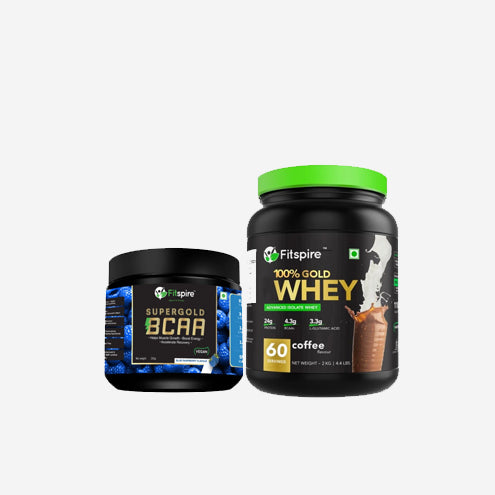 Fitspire Super Gold BCAA & 100% Gold Whey Protein Isolate 2kg Combo