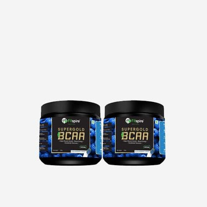 Fitspire Super Gold BCAA I Pre Workout I Muscle Growth & Recovery I L-Leucine, L-Isoleucine and L-Valine - 250 g | Combo Pack