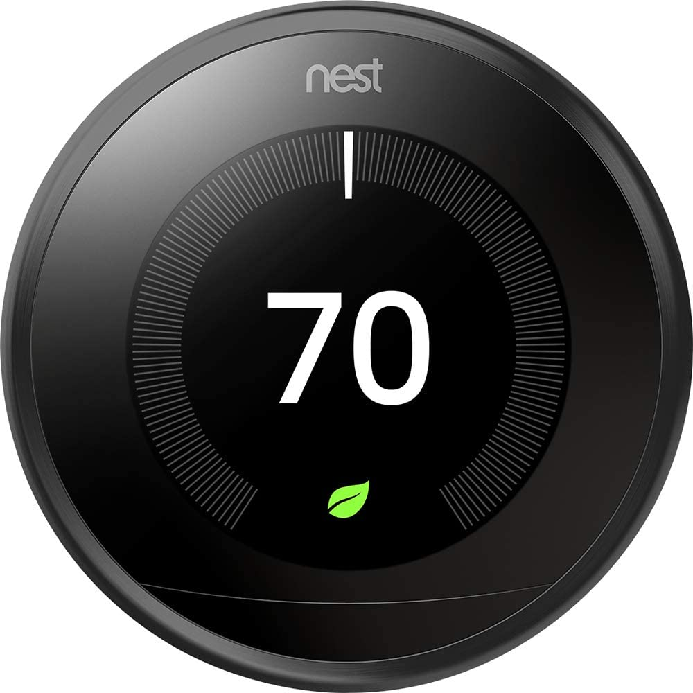 New Nest Learning Thermostat 3rd Generation - Black T3016US