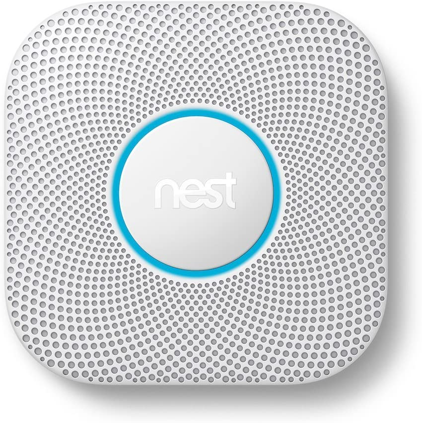 Google - Nest Protect 2nd Generation (Battery) Smart Smoke/Carbon Monoxide Alarm - White