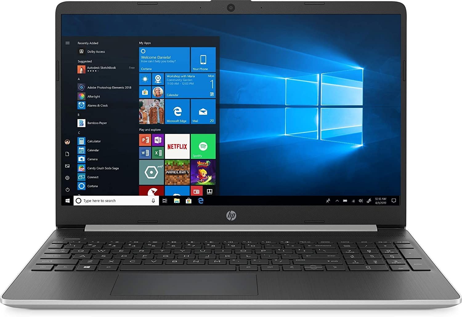 "NEW HP 15.6"" HD Touchscreen Intel i5-1035G1/8G/512G SSD/Win10 15-dy1751ms Silver"