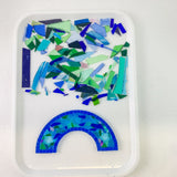 Rainbow Mosaic Kit - Blue cullet