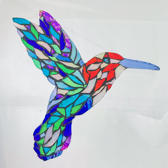 Humming Bird Mosaic Kit - Iridescent