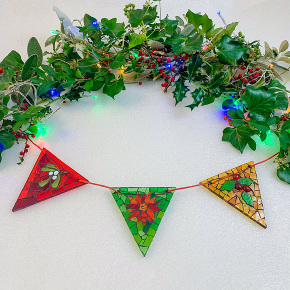 Mini DIY Christmas Bunting