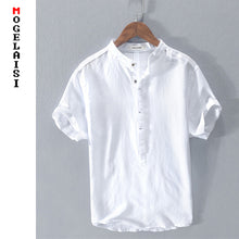 Load image into Gallery viewer, New Summer white shirt men short sleeve High quality breathable solid tops soft shirt man clothing chemise homme RC203