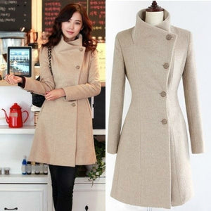 XUXI Women 2019 New Coat Ladies Autumn And Winter Manteau Femme Overcoat Cotton Mixing High Quality Coats FZ765