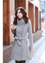 Load image into Gallery viewer, XUXI Women 2019 New Coat Ladies Autumn And Winter Manteau Femme Overcoat Cotton Mixing High Quality Coats FZ765