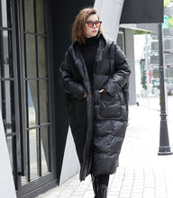 Load image into Gallery viewer, [EAM] 2020 New Winter Hooded Long Sleeve Solid Color Black Cotton-padded Warm Loose Big Size Jacket Women parkas Fashion JD12101