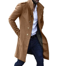 Load image into Gallery viewer, New Khaki Trench Coat Men Classic Autumn Winter Long Jacket Men Casual Loose Long Coat Trench Male Overcoat Streetwear Coat
