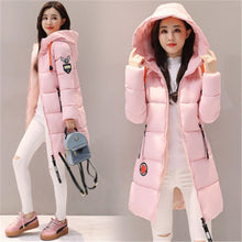 Load image into Gallery viewer, Parka Women 2020 Winter Jacket Women Coat Hooded Outwear Female Parka Thick Cotton Padded Lining Winter Female Basic Coats Z30