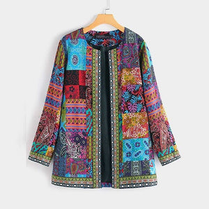 ZANZEA Ethnic Printed Cardigan Thin Coats Women's Jackets 2020 Casual Long Sleeve Blusas Open Stich Overcoats Plus Size S-5XL