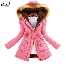 Load image into Gallery viewer, Fitaylor Winter Jacket Women Thick Warm Hooded Parka Mujer Cotton Padded Coat Long Paragraph Plus Size 3xl Slim Jacket Female