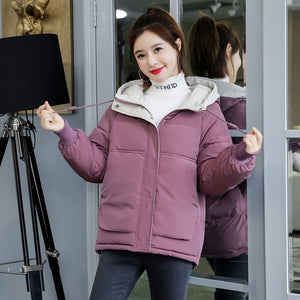 Orwindny Winter Coat Women 2020 Fashion Winter Jacket Women Cotton padded Parka Outwear Hooded 7 Colors Solid Female Jacket Coat