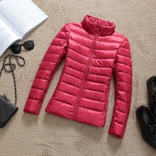 Load image into Gallery viewer, 2019 New Brand 90% White Duck Down Jacket Women Autumn Winter Warm Coat Lady Ultralight Duck Down Jacket Female Windproof Parka
