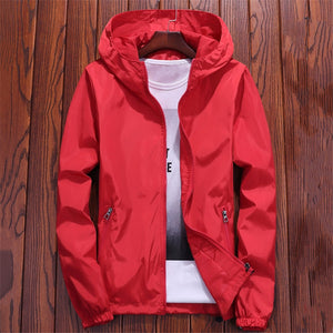 Jacket Women Red 7 Colors 7XL Plus Size Loose Hooded Waterproof Coat 2019 New Autumn Fashion Lady Men Couple Chic Clothing LR22