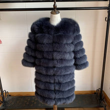 Load image into Gallery viewer, 2020 Real Fox Fur Coat Women Natural Real Fur Jackets Vest  Winter Outerwear Women Clothes