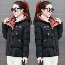 Load image into Gallery viewer, 2020 New Winter Jacket Women Parkas Hooded Thick Down Cotton Padded Parka Female Jacket Short Coat Slim Warm Outwear P772