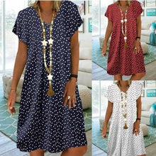 Load image into Gallery viewer, 2020 Summer new casual fashion beach loose V-neck dress