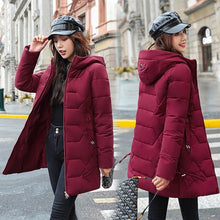 Load image into Gallery viewer, PinkyIsBlack Long Parkas Female Winter Solid Thick Jacket Women 2020 Plus Size 4XL Hooded Cotton Padded Loose Coat Ladies Jacket