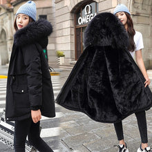 Load image into Gallery viewer, Vielleicht 2020 New Cotton Thicken Warm Winter Jacket Coat Women Casual Parka Winter Clothes Fur Lining Hooded Parka Mujer Coats