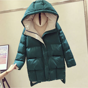 2020 Winter Women Jacket Long Hooded Cotton Padded Female Coat High Quality Warm Outwear Womens Parka Manteau Femme Hiver P787