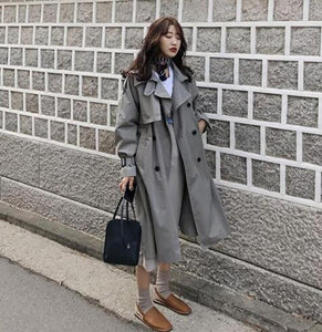 2020 Top quality pure cotton long trench coats For women plus size ladies autumn coats outerwear
