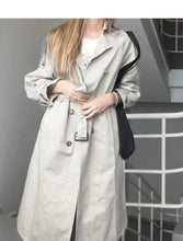 Load image into Gallery viewer, 2020 Top quality pure cotton long trench coats For women plus size ladies autumn coats outerwear