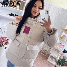 Load image into Gallery viewer, 2020 Autumn Winter Cotton Parkas Oversized Coats and Jackets Womens Outerwear Hooded Puffer Jacket