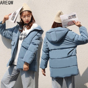 2020 Autumn Winter Cotton Parkas Oversized Coats and Jackets Womens Outerwear Hooded Puffer Jacket